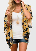 Summer Outfits Women Floral Batwing Sleeve Cardigan