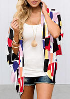 New Arrivals Geometric Batwing Sleeve Cardigan