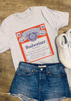 Summer Outfits Budweiser King Of Beers T-Shirt Tee