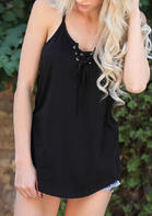 Cross Lace Up Camisole
