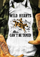Leopard Wild Hearts Can't Be Tamed Tank - White