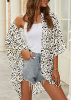 Leopard Three Quarter Sleeve Cardigan