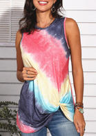 Summer Clothes Tie Dye Twist Tank