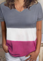 Color Block T-Shirt Tee