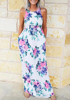 Floral Ruffled Pocket Maxi Dress