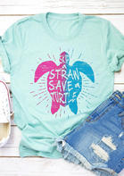 Skip A Straw Save A Turtle T-Shirt Tee
