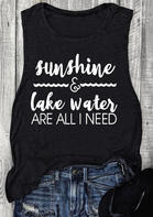 Sunshine & Lake Water Are All I Need Tank