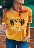 Time To Escape T-Shirt Tee without Silk Scarf - Yellow