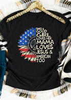 She's A Good Girl Loves Her Mama T-Shirt Tee - Black