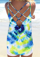 Tie Dye Criss-Cross Open Back Camisole