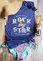 Mama Like A Rock Star Tank - Blue