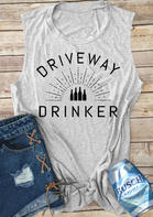Driveway Drinker Casual Tank - Light Grey