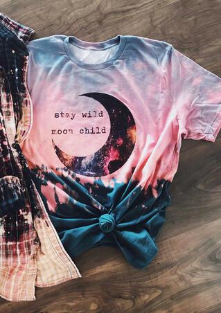 Stay Wild Moon Child Tie Dye T-Shirt Tee