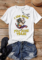 I Can Show You Some Trash T-Shirt Tee without Necklace - White