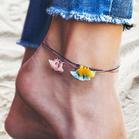 3Pcs Tassel Alloy Beads Thread Braided Anklet