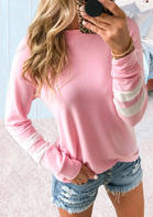 Color Block Splicing Long Sleeve T-Shirt