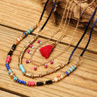 Fairyseason Beading Tassel Multi-Layered Pendant