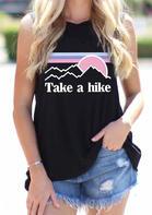 Take A Hike O-Neck Tank - Black