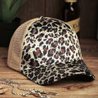 Fairyseason Leopard Tiger Mesh Hollow Out Baseball Hat