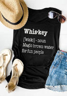 Fairyseason Whiskey Magic Brown Water for Fun People Tank