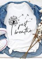 Bellelily Just Breathe Dandelion T-Shirt Tee
