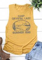 Presale - Camp Crystal Lake Summer 1980 Tank - Yellow