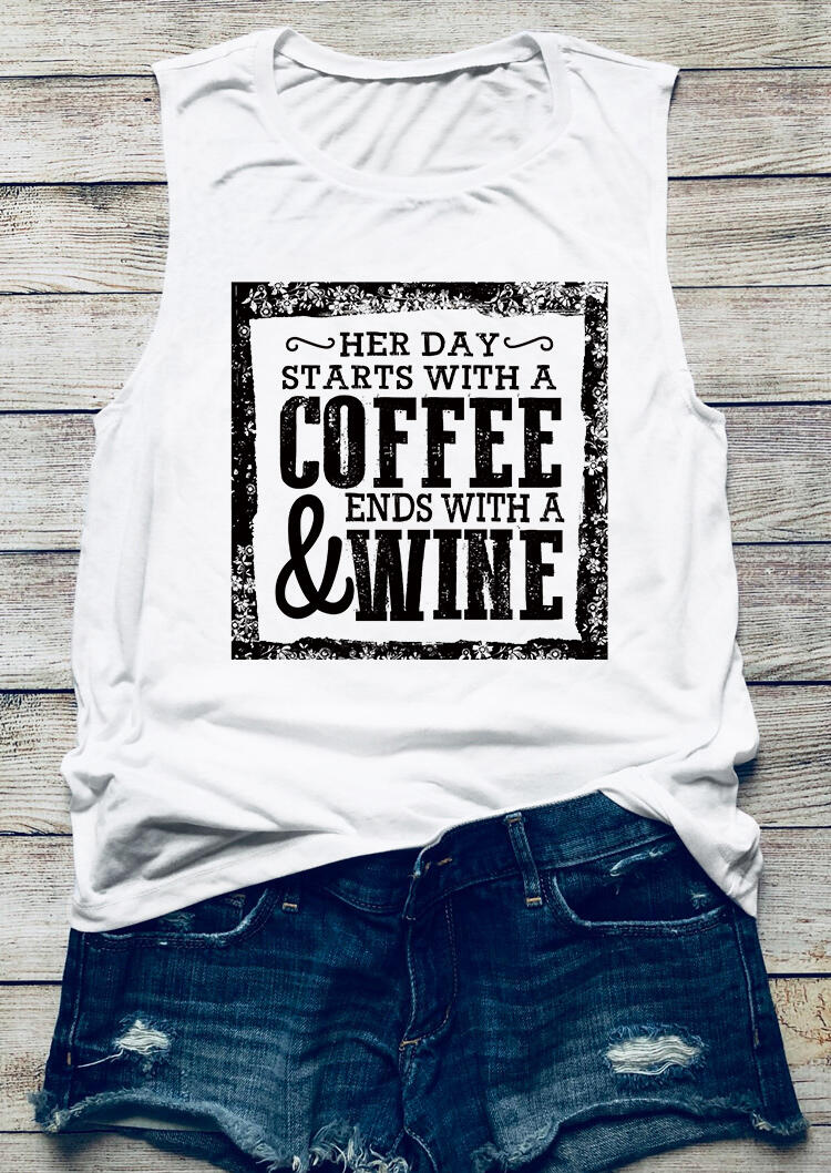 Her Day Starts With A Coffee & Ends With A Wine Tank