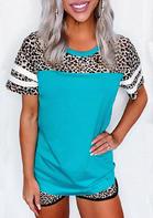 Leopard Striped Baseball T-Shirt