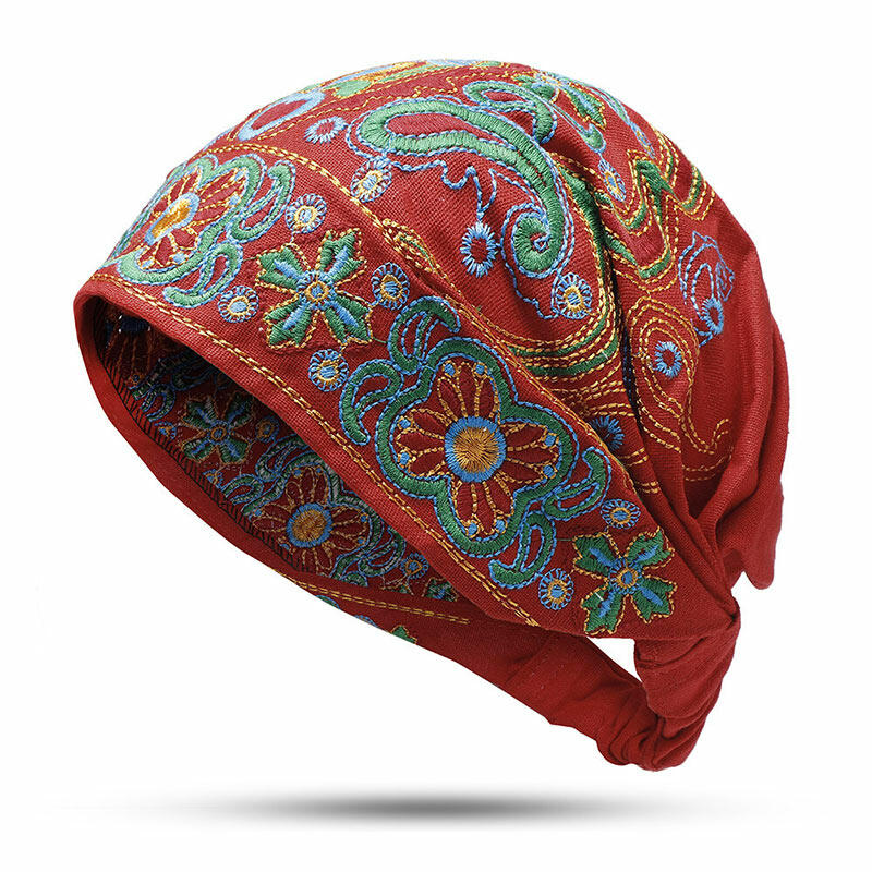 Vintage Embroidered Floral Hollow Out Hat