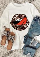 Leopard Lips Star Sweatshirt