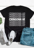 Mexican Letter O-Neck T-Shirt