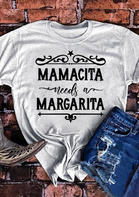Mamacita Needs A Margarita Star T-Shirt