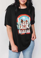 Road Trip Warrior Cactus Rainbow Sunrise T-Shirt