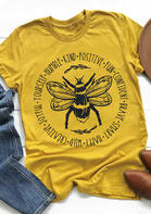 Bee Kind Inspirational Letter T-Shirt