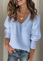 Knitted V-Neck Sweater