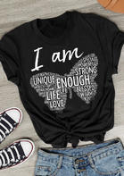I Am Enough Christian Butterfly T-Shirt