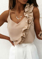 Ruffled V-Neck Camisole