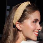 Bohemian Straw Knotted Wide Headband