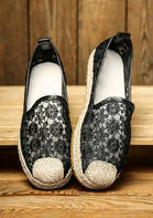 Daisy Floral Lace Up Flat Sneakers