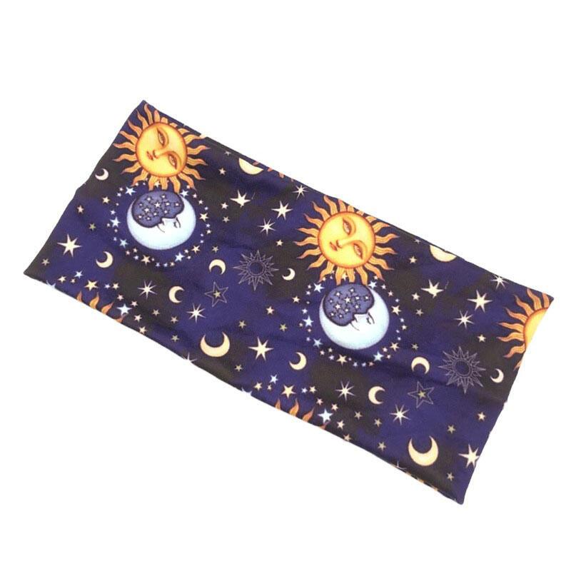 Serape Striped Floral Sun Moon Star Yoga Sports Headband
