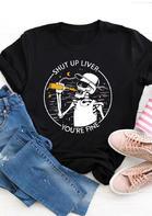 Skeleton Liver You're Fine Drink Moon Star T-Shirt