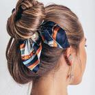 Pearl Bowknot Elastic Hair Band Scrunchie