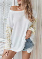 Floral Splicing Blouse
