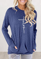 Faith Cross Pocket Sweatshirt