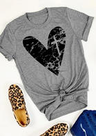 Love Heart Christian Cross T-Shirt