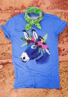 Donkey Floral O-Neck T-Shirt