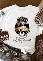Halloween Skull Pumpkin Spider Witchy Woman T-Shirt