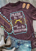 Western Praise The Lord Graphic T-Shirt Tee