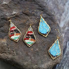 Bohemian Vintage Water Drop Wooden Earrings
