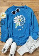Daisy Floral Dog Paw Sweatshirt - Blue